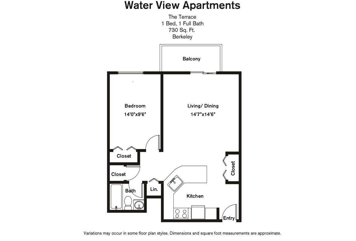 Floor plan 1 Bedroom with Balcony and A/C image 8