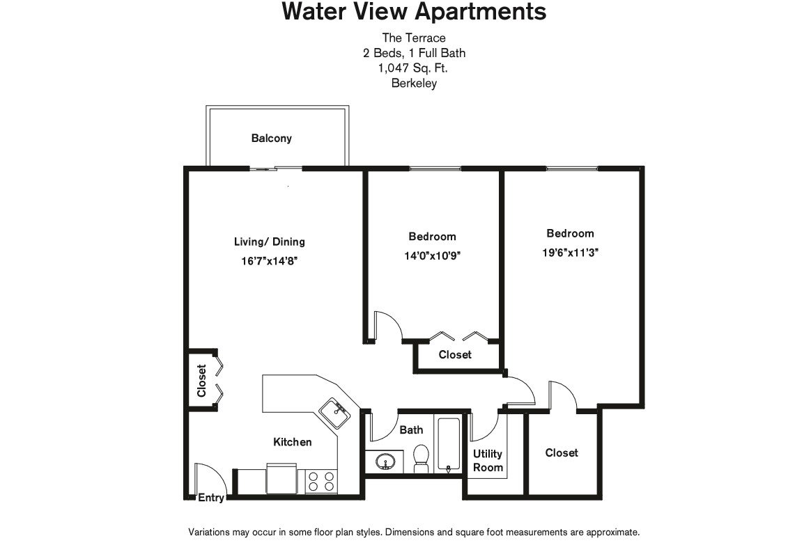 Floor plan 2 Bedroom with Balcony and A/C image 9