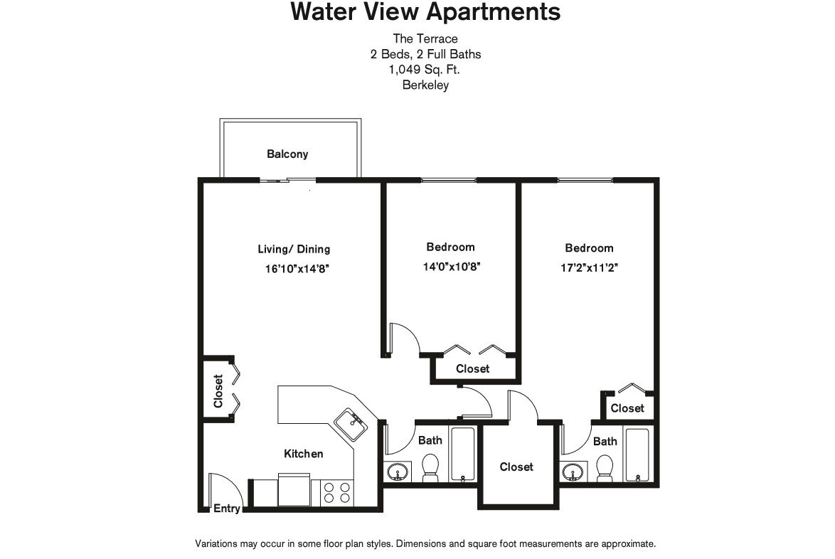 Click to view Floor plan 2 BR w/ Walk-in Closet image 4