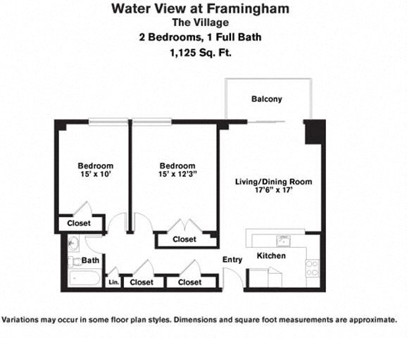 Click to view 2 Bedroom with Balcony floor plan gallery