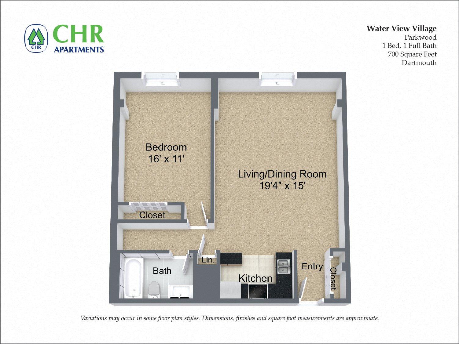 Floor plan 1 Bedroom image 4