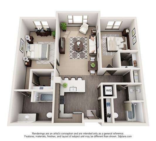 1, 2 & 3 Bedroom Apartments in Hillsboro, OR | Floor Plans