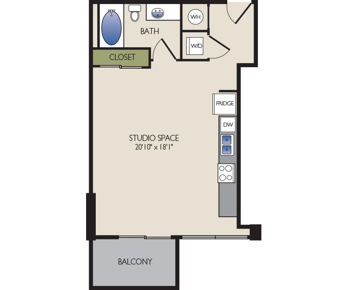 Studio, 1, 2, 3 Bedroom Apartments In