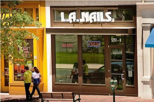 On-site retail including L.A. Nails