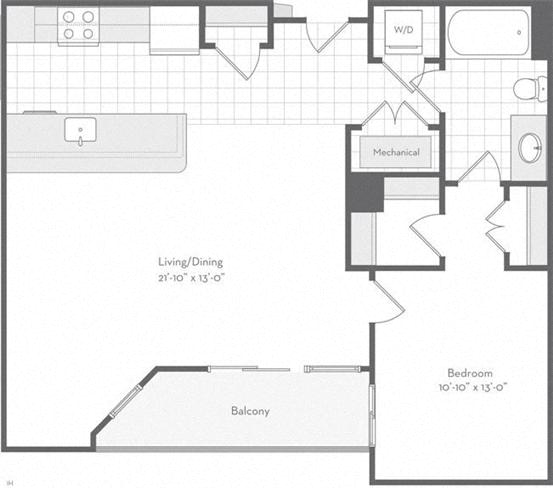 Md baltimore thefitzgerald p0220783 theamory860sf 2 floorplan