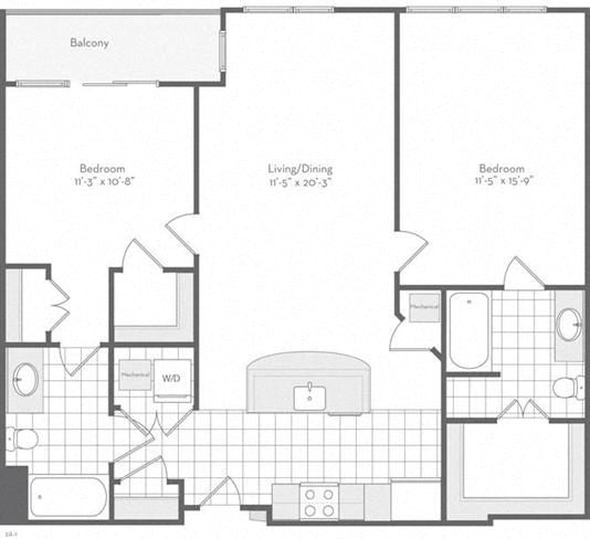 Md baltimore thefitzgerald p0220783 thebuchanan1092sf 2 floorplan