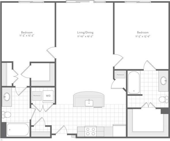 Md baltimore thefitzgerald p0220783 thecarraway1063sf 2 floorplan