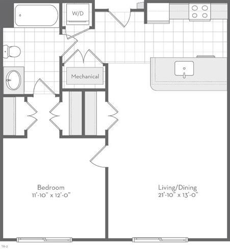 Md baltimore thefitzgerald p0220783 theclara684sf 2 floorplan