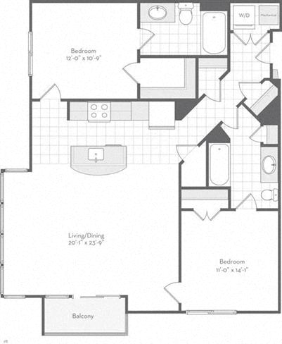 Md baltimore thefitzgerald p0220783 thedexter1103sf 2 floorplan