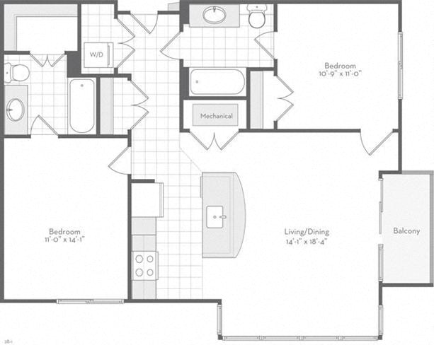 Md baltimore thefitzgerald p0220783 thehendrick1025sf 2 floorplan