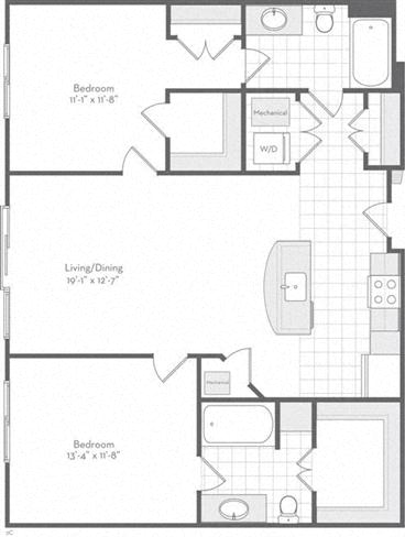 Md baltimore thefitzgerald p0220783 theholiday1090sf 2 floorplan
