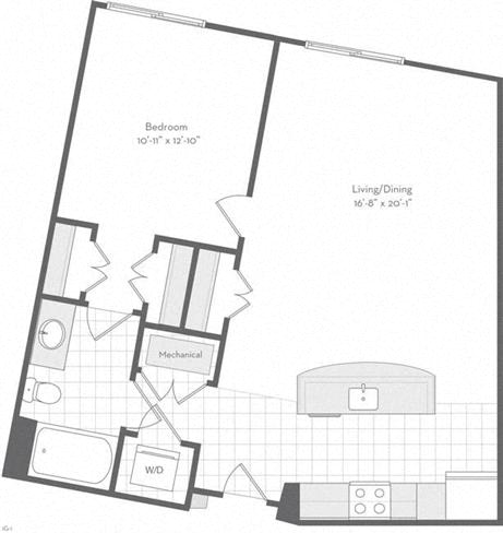 Md baltimore thefitzgerald p0220783 thewarren806sf 2 floorplan