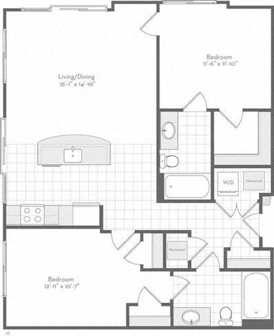 Md baltimore thefitzgerald p0220783 thewilson1045sf 2 floorplan