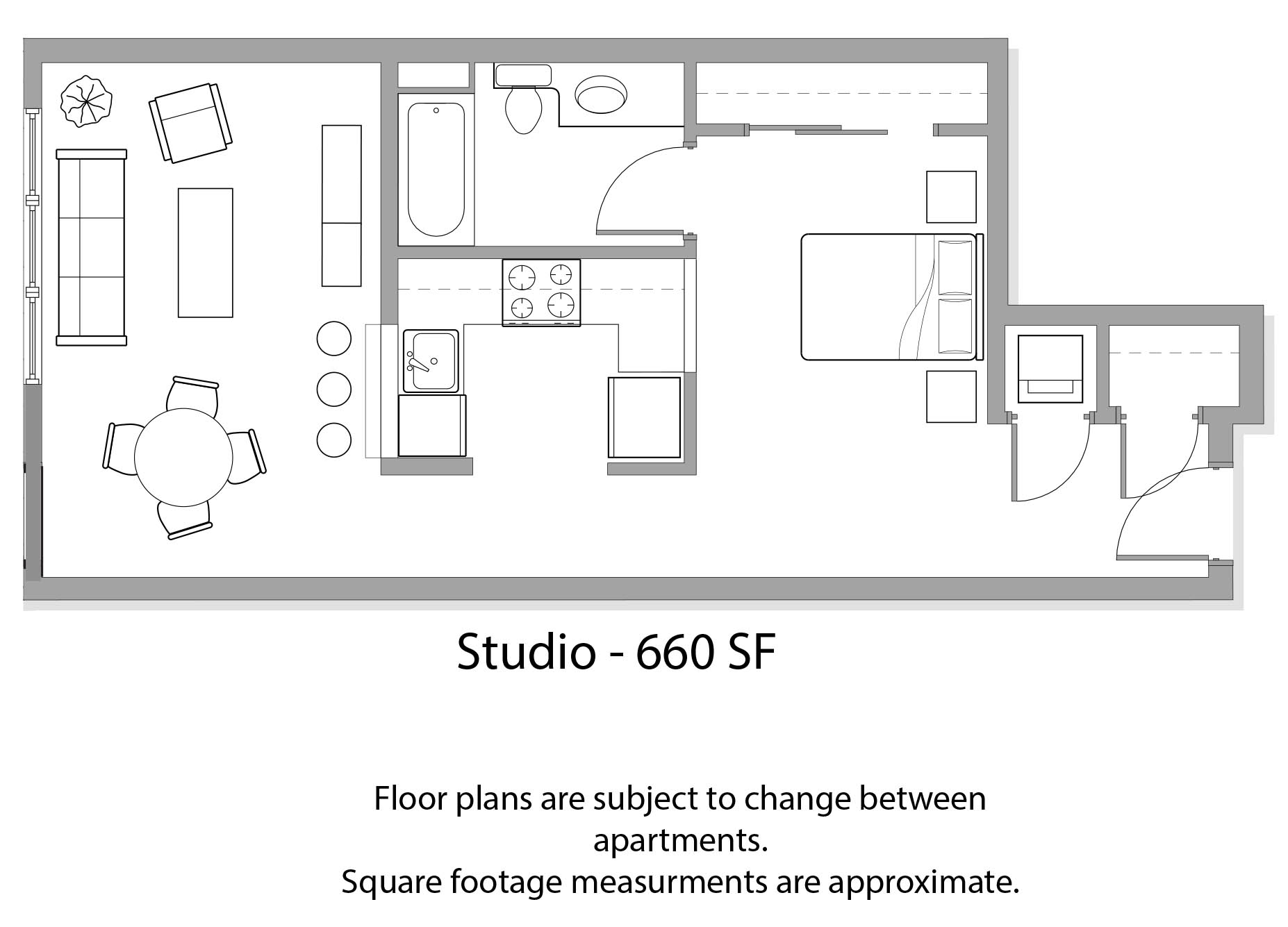 View Floor Plan. Studio  1    2 Bedroom Apartments in Seattle  WA   Verse Seattle