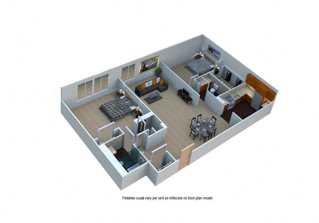 Apply Now Download Floor Plan. Two Bedroom 2 Bath Eco
