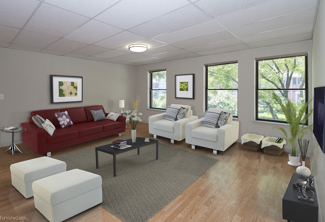 Patuxent Place apartments living room model