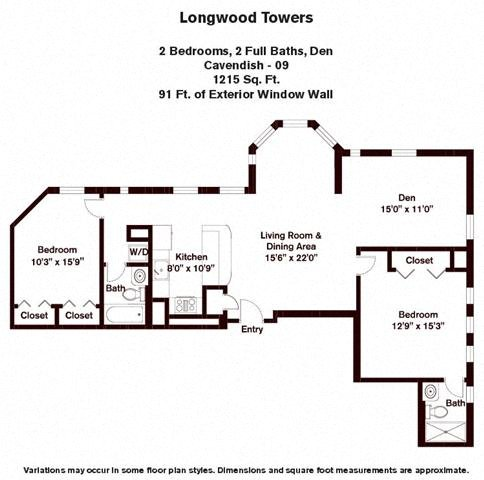 Floor plan Cavendish - 2 Bed/2 Bath image 2