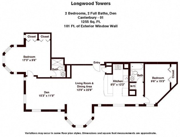 Floor plan Canterbury - 2 Bed/2 Bath image 2
