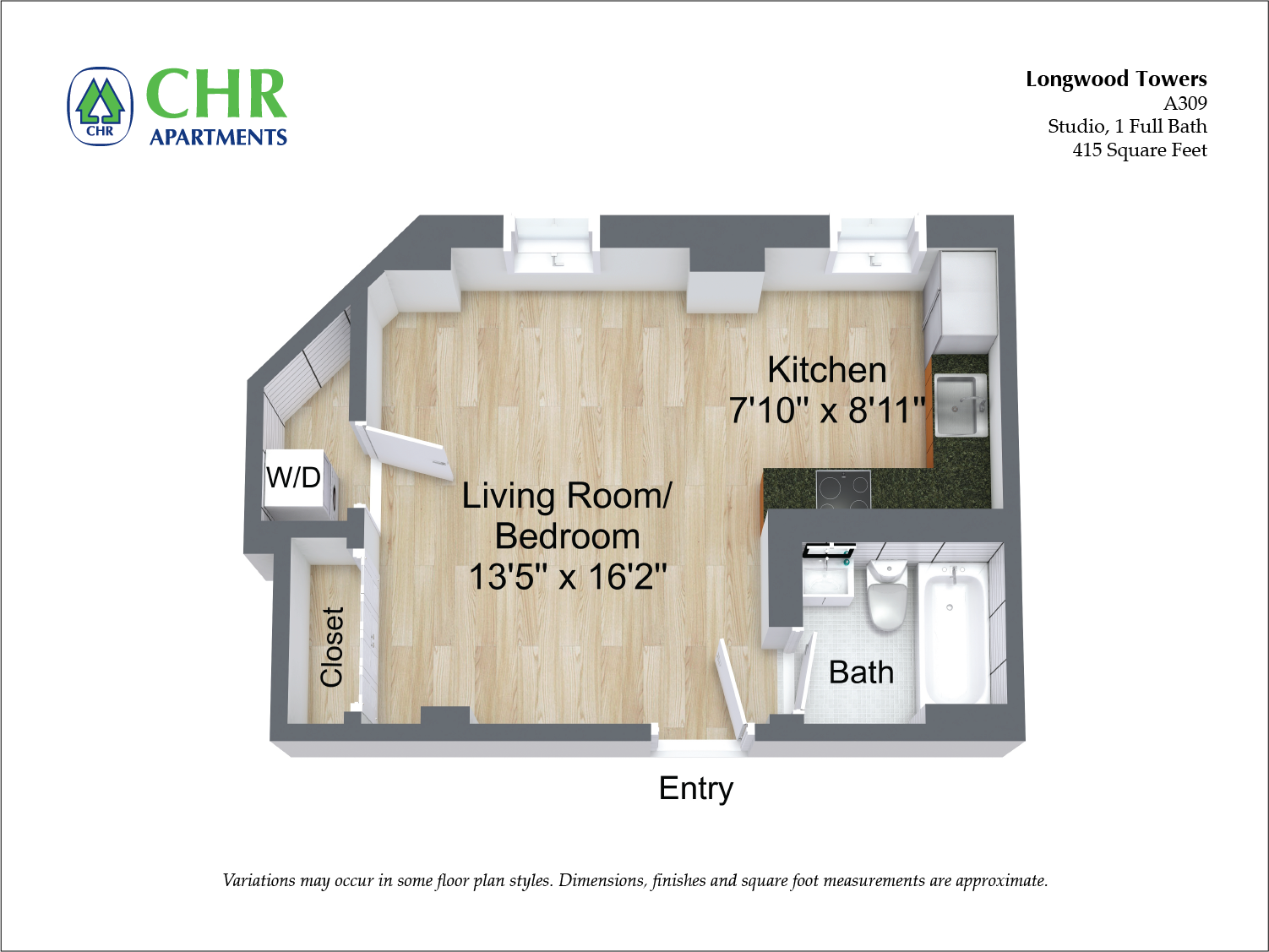 Floor plan Studio image 3