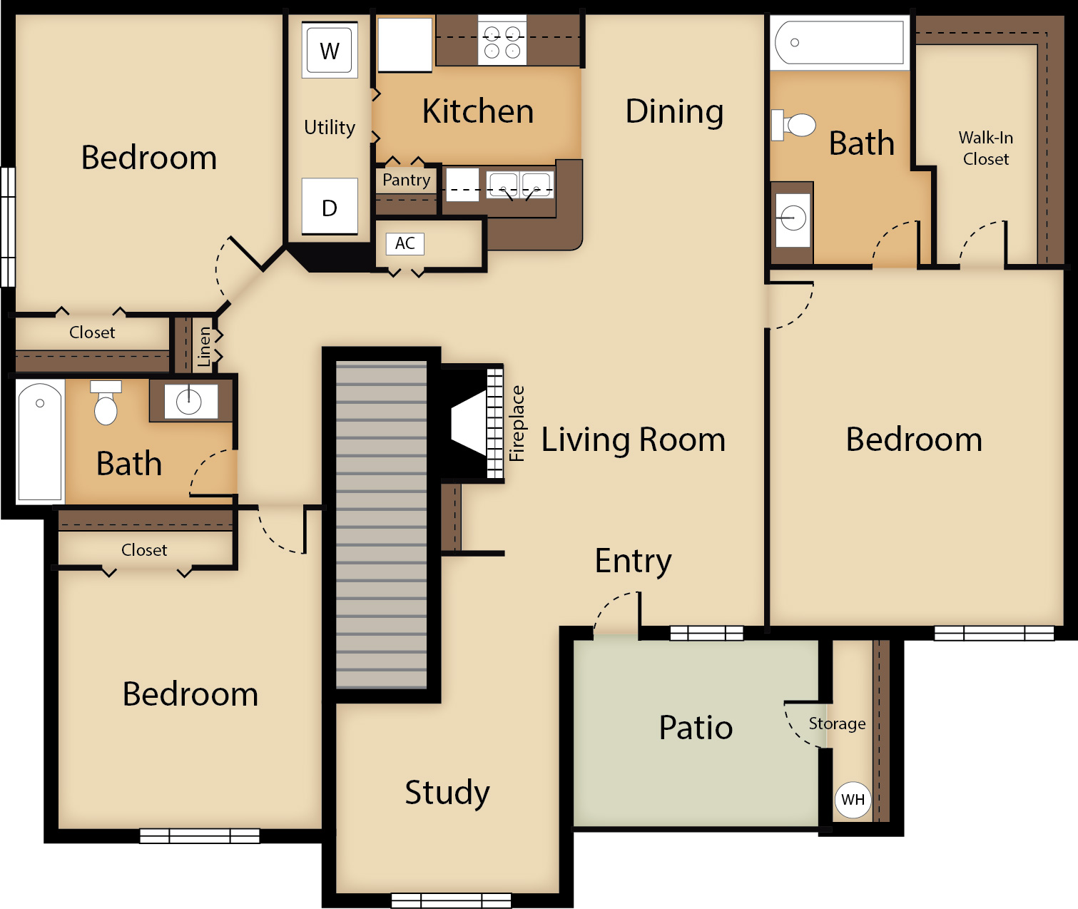 3 Bedroom with Study