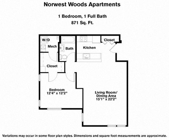 Floor plan 1 Bedroom - Single Level image 4
