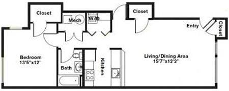 Click to view 1 Bedroom - Single Level floor plan gallery