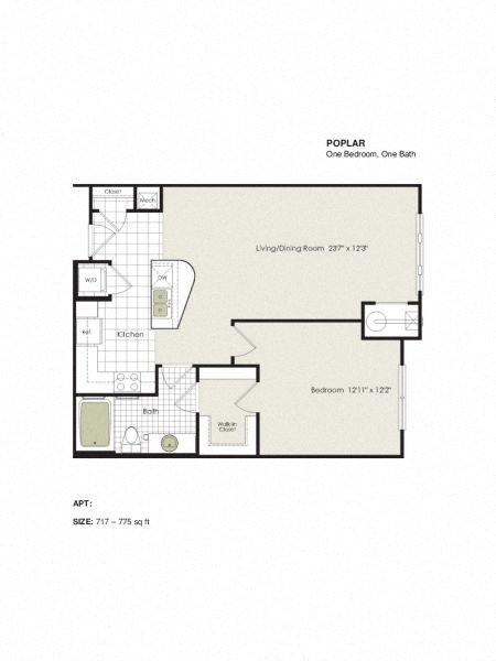 Apartment 1-205 floorplan