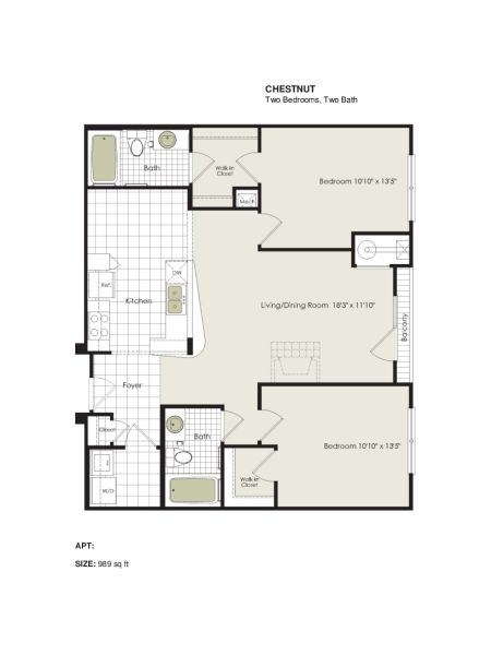 Apartment 1-313 floorplan