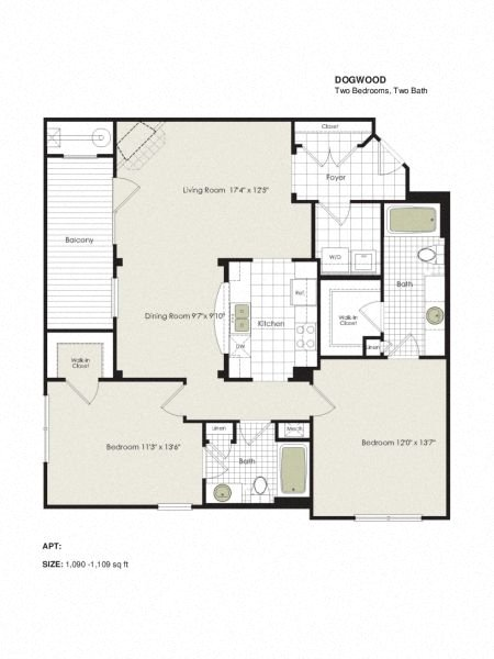 Apartment 4-402 floorplan