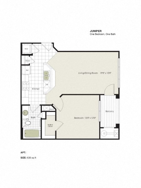 Apartment 6-109 floorplan