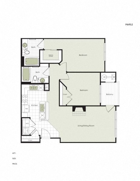 Apartment 5-407 floorplan