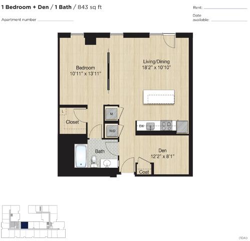 Apartment 1166 floorplan