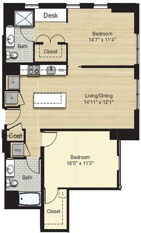 Apartment 0681 floorplan