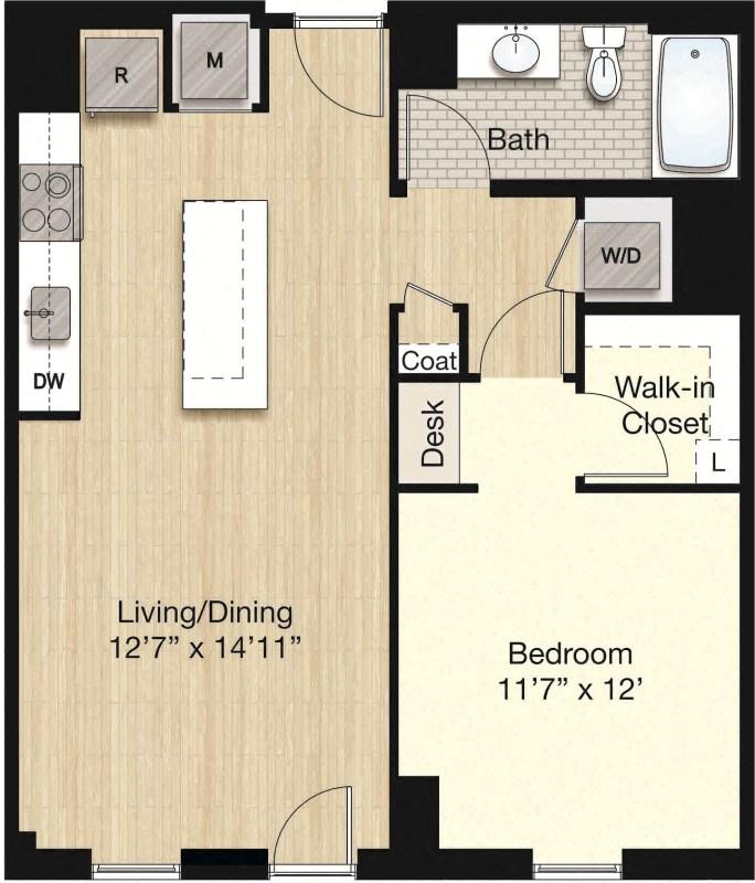 Apartment 0303 floorplan