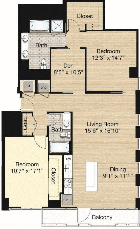 Apartment 1179 floorplan
