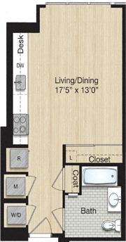 Apartment 0855 floorplan