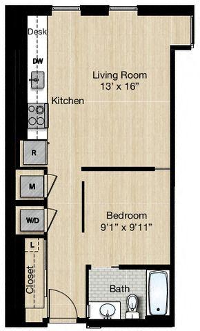 Apartment 0317 floorplan