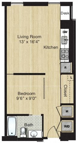 Apartment 0727 floorplan