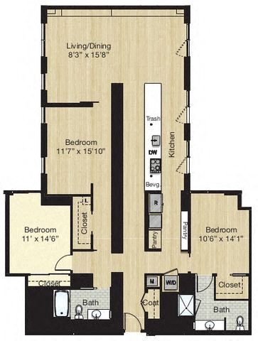 Apartment 0631 floorplan