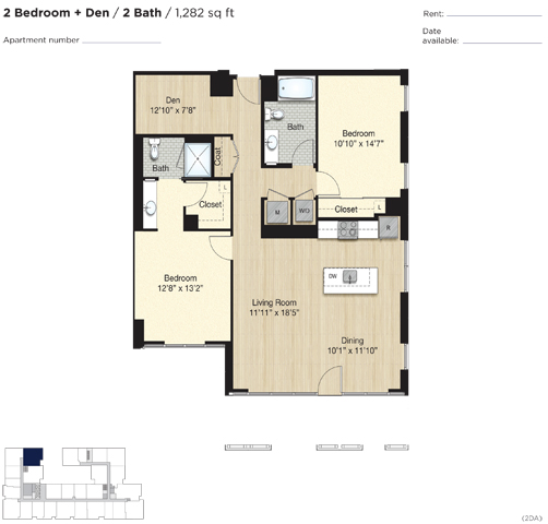 Apartment 0652 floorplan