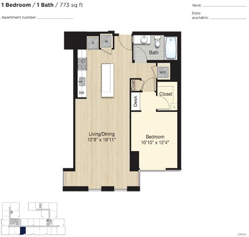 Apartment 0665 floorplan