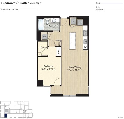 Apartment 0761 floorplan