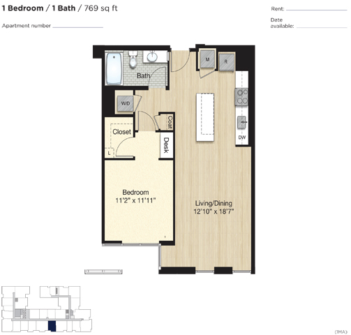 Apartment 0769 floorplan
