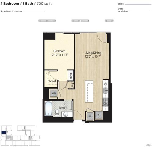 Apartment 0853 floorplan
