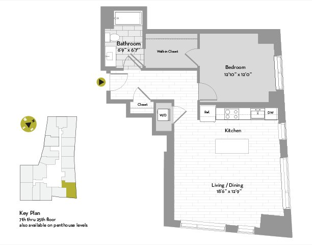 UNIT #1802 floor plan
