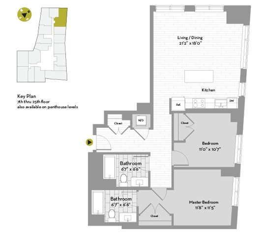 UNIT #1407 floor plan