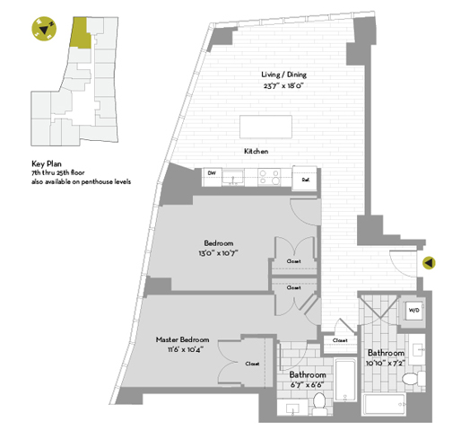 UNIT #2309 floor plan