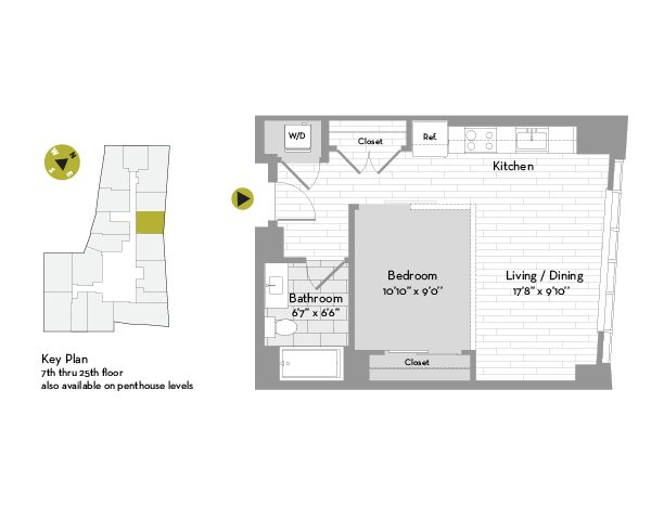UNIT #2105 floor plan