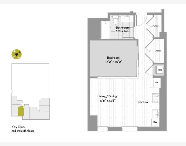 UNIT #0503 floor plan