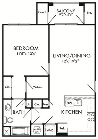 floor plan for 1700 Wisteria Pond Way, #316